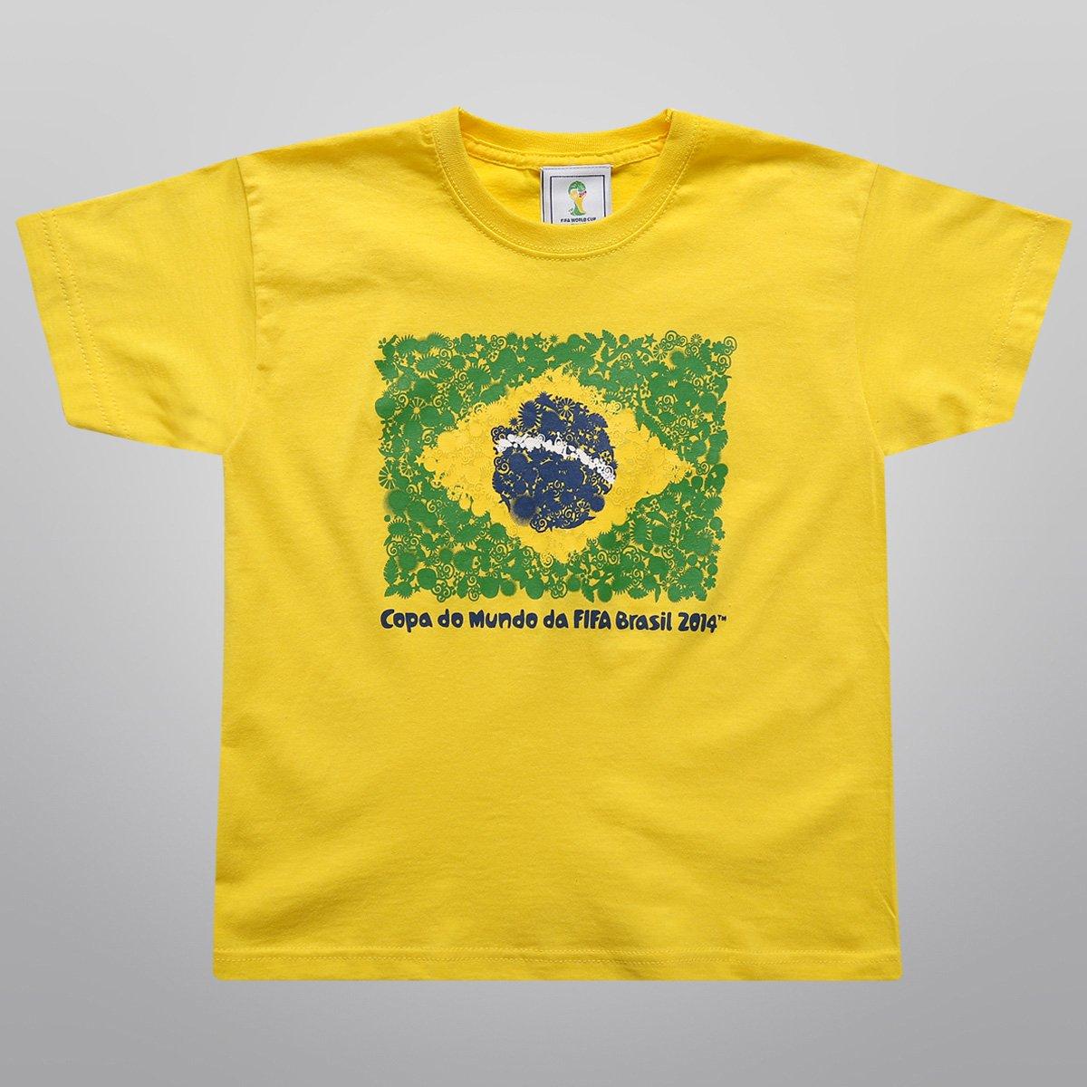 Camiseta FIFA Bandeira Infantil - Compre Agora   Netshoes 0828dd6443
