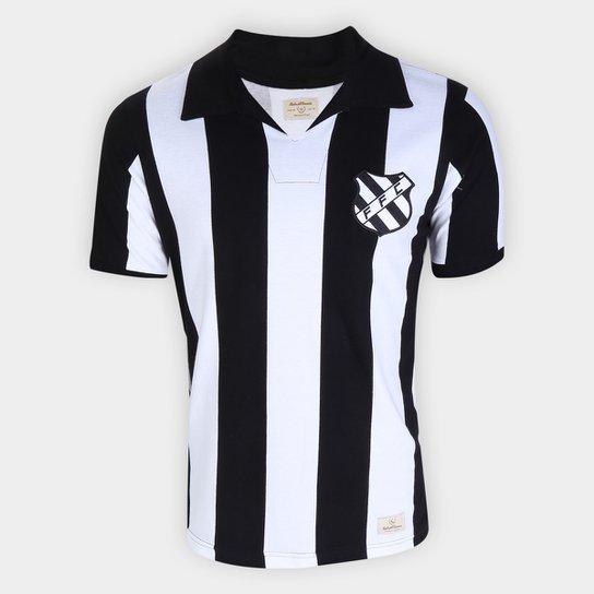 Camiseta Figueirense 1960 Masculina - Branco+Preto