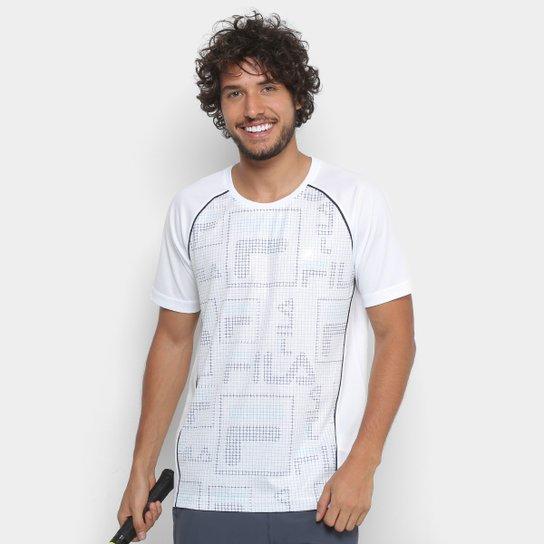 Camiseta Fila Cinci Print Masculina - Branco+Verde
