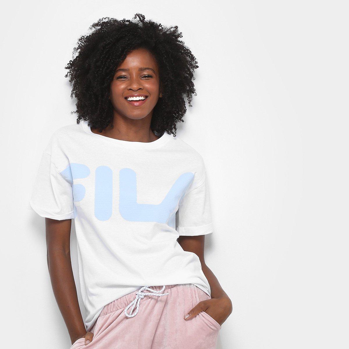 Camiseta Branco New Feminina Camiseta Fila Fine Fila qUpq7d