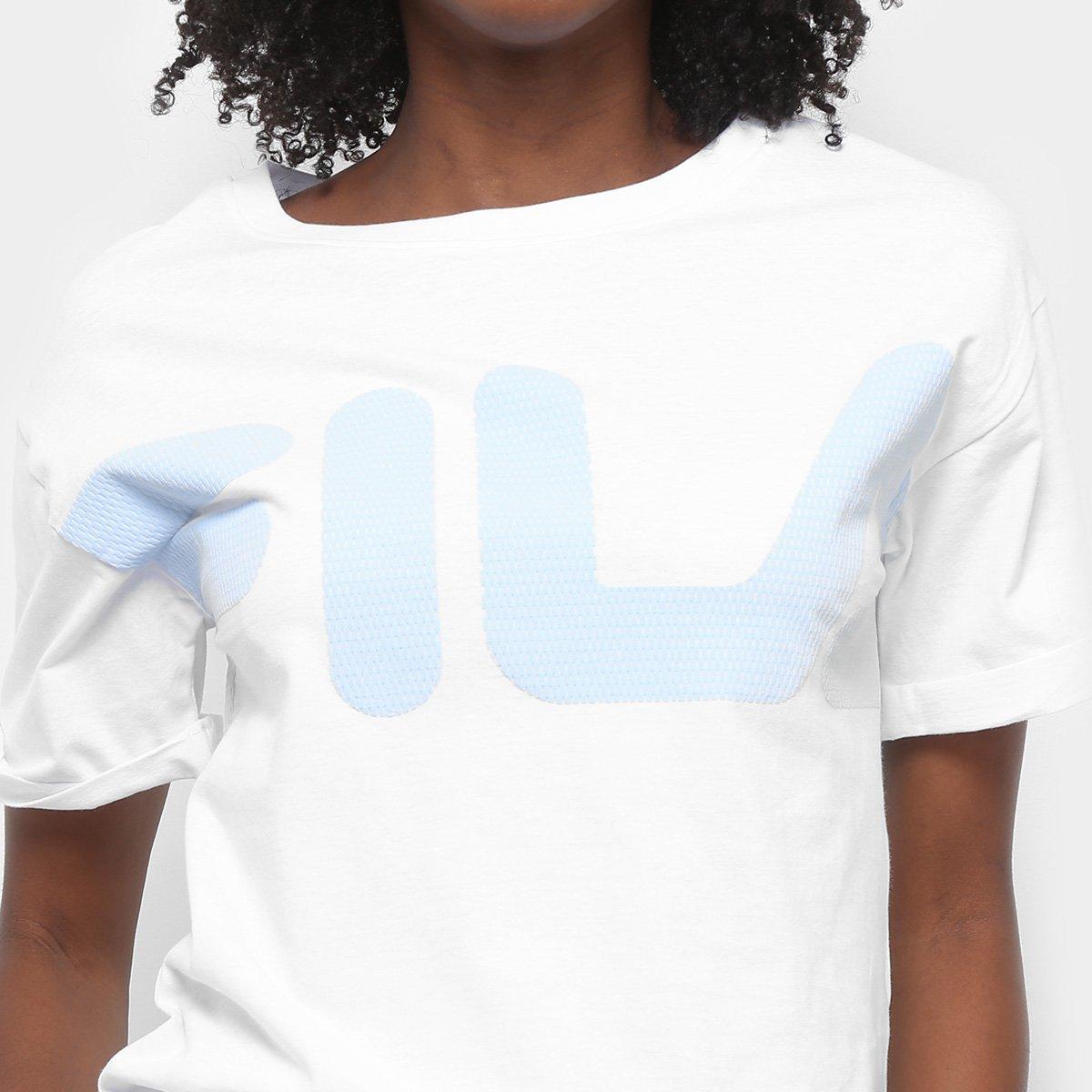 Fila Camiseta Fine New Feminina Camiseta Fila Feminina Fine New Branco aWqXI1I