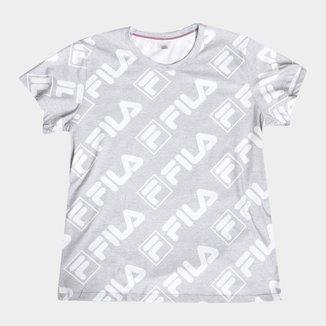 Camiseta Fila Full Print Core Plus Size Feminina