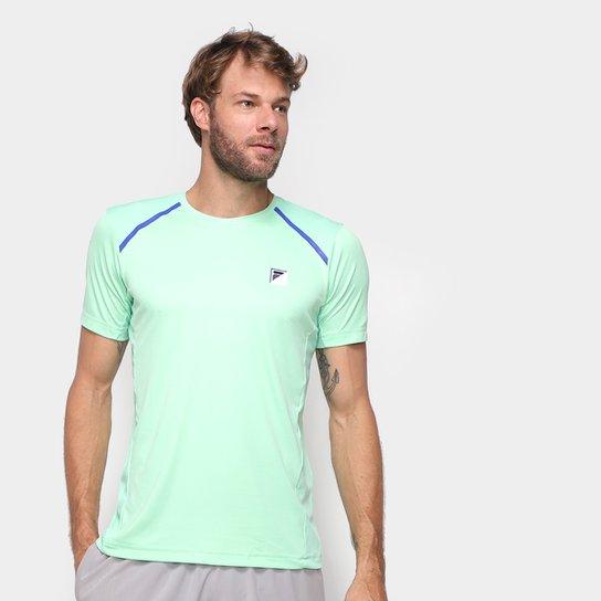 Camiseta Fila Fusion Plaid Masculina - Verde