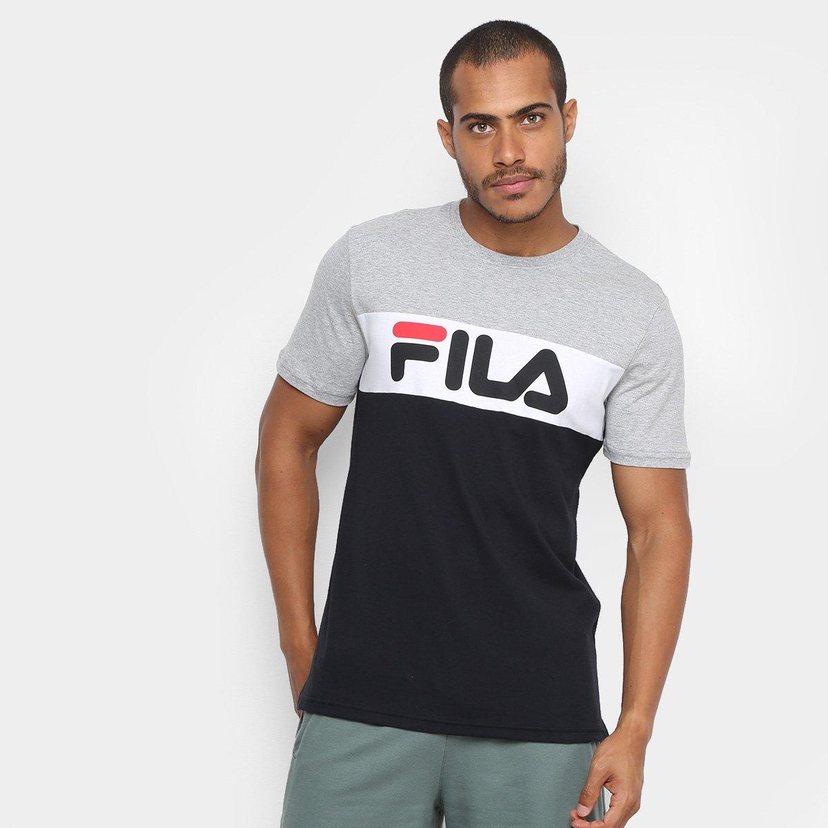 Camiseta Fila Letter Logo Preta