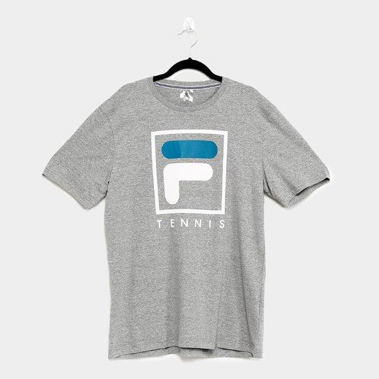 Camiseta Fila Soft Urban Masculina - Cinza+Azul