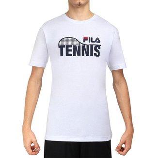 Camiseta Fila Tennis Racket Marinho-GG