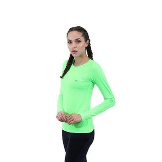 Camiseta FIT ROOM Feminina Performance Poliamida Manga Longa Corrida Caminhada Esporte