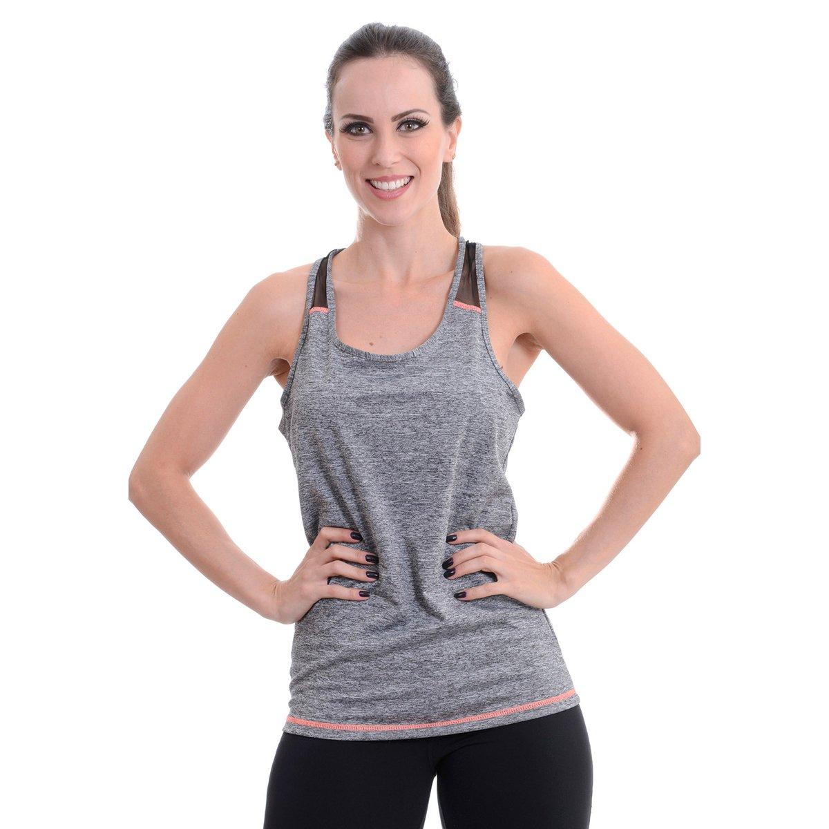 b7d0b58101 Camiseta Fitness Areia Branca Regata - Compre Agora