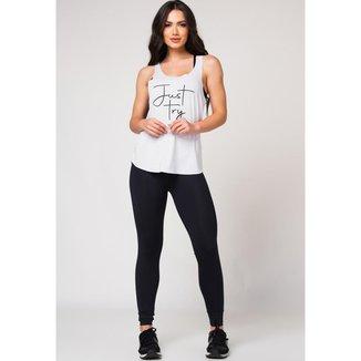 Camiseta Fitness Venari Just Try Branca