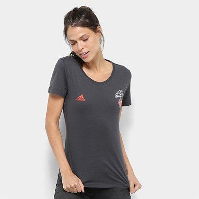 Camiseta Flamengo Adidas Grafica Feminina