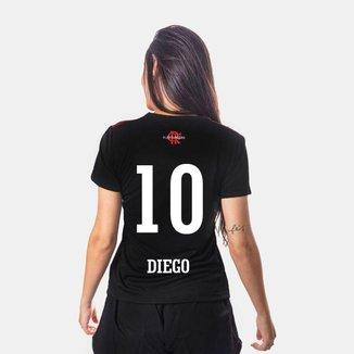 Camiseta Flamengo Cup Feminina 10 Diego
