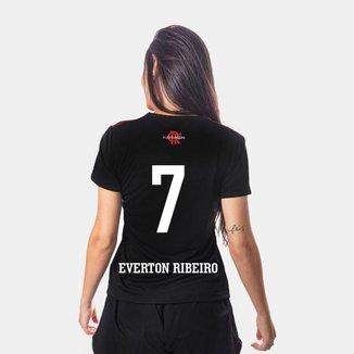 Camiseta Flamengo Cup Feminina 7 Everton Ribeiro