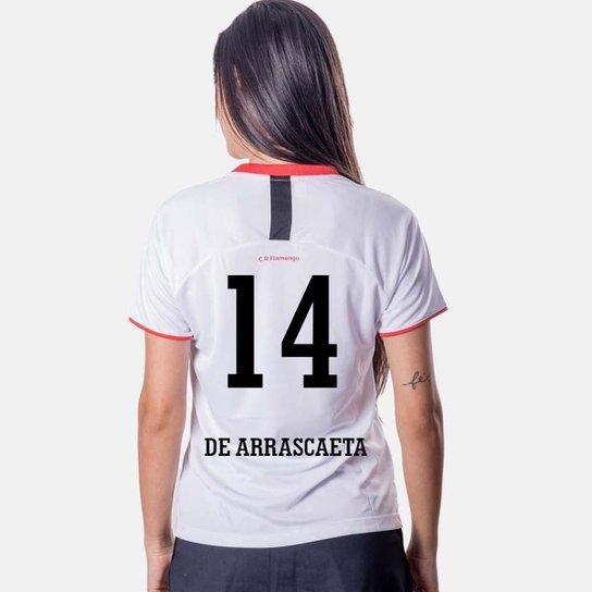 Camiseta Flamengo Insight Feminina 14 De Arrascaeta - Branco
