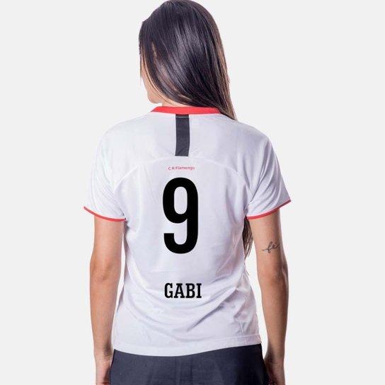 Camiseta Flamengo Insight Feminina 9 Gabi - Branco