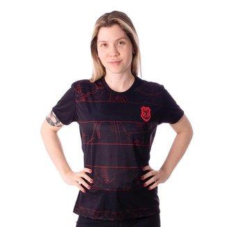 Camiseta Flamengo Map Feminina
