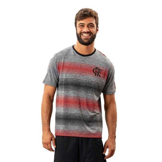 Camiseta Flamengo Risk Braziline - Cinza