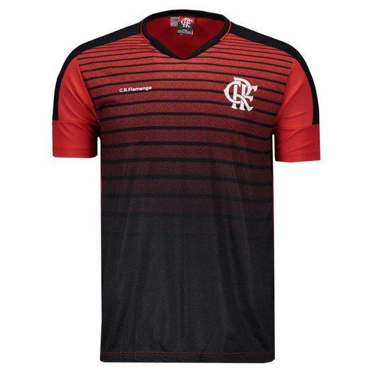 Camiseta Flamengo Strike Masculina - Preto+Vermelho