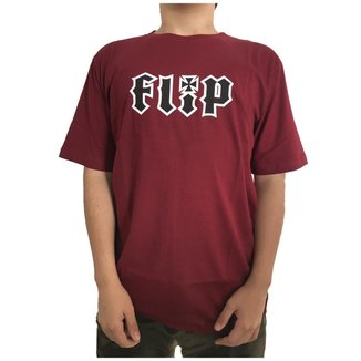Camiseta Flip HKD Burgundy Masculina
