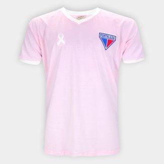 Camiseta Fortaleza Retrô Mania Outubro Rosa Masculina
