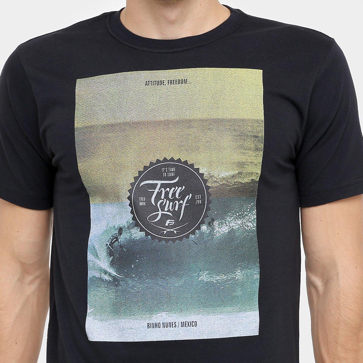 b42b803843a81 Camiseta Free Surf Básica Color - Compre Agora   Netshoes