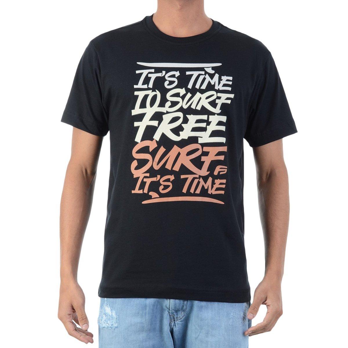 4dd00f26e74a6 Camiseta FreeSurf Deep Surf - Preto - Compre Agora   Netshoes