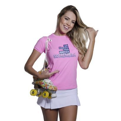 Camiseta Funfit Só Corro Pra Comer Sobremesa Feminina - Feminino