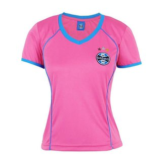 Camiseta Futebol Feminina Baby Look Grêmio RS Torcedora Dry