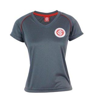 Camiseta Futebol Feminina Baby Look Internacional Torcedora Dry