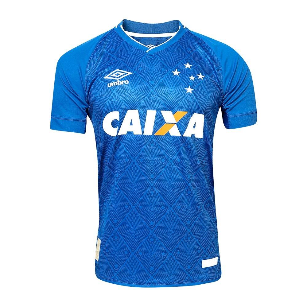 e1b4e25cdef06 Camiseta Futebol Umbro Cruzeiro Of. 1 2017 2018 - Compre Agora ...