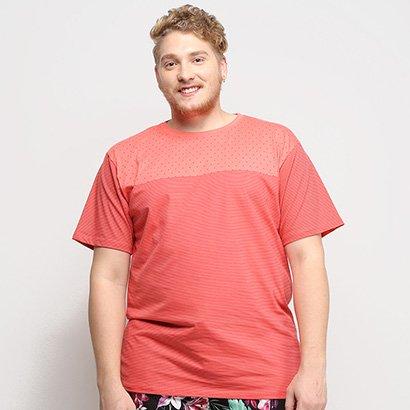 Camiseta Gajang Estampada Plus Size Masculina