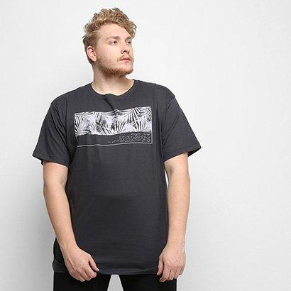 Oferta Camiseta Gajang Folhagens Plus Size Masculina por R$ 23.99