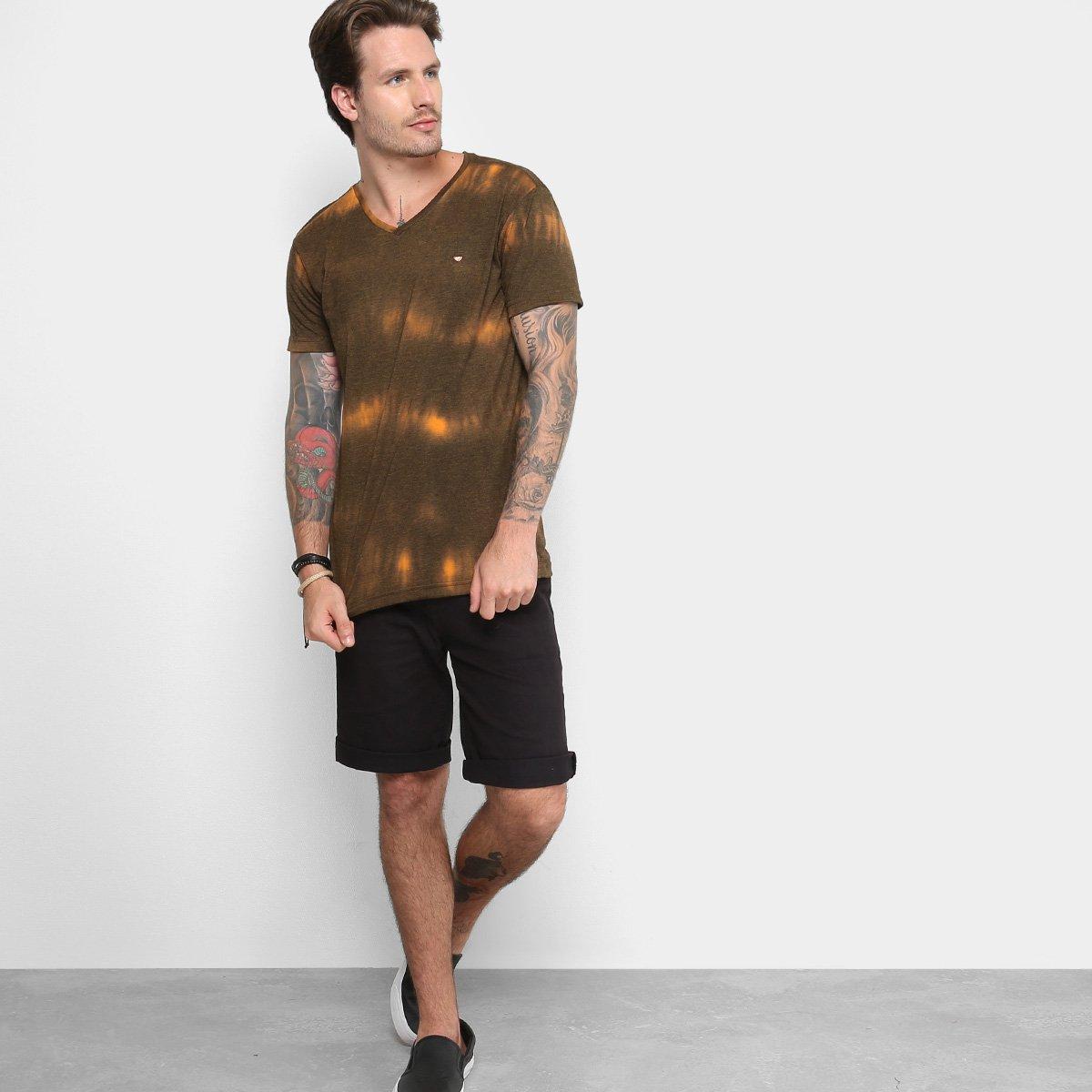 aef993163f Camiseta Gangster Gola V Tie Dye Masculina - Preto e Laranja ...