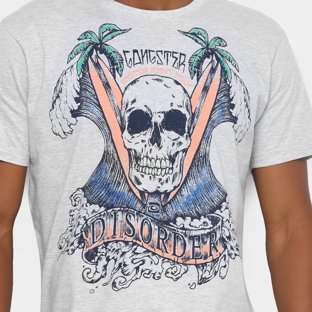 Camiseta Gangster Skull Summer Masculina - Compre Agora  b5df45265acf6