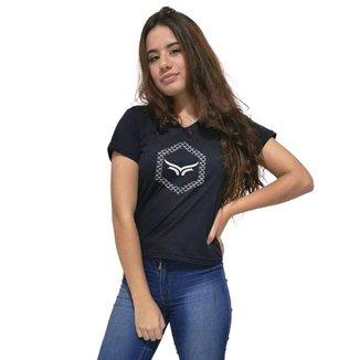 Camiseta Gola V Cellos Hexagonal Premium Feminina