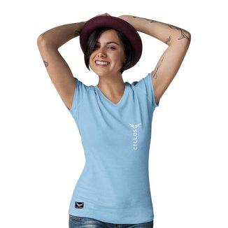 Camiseta   Gola V Cellos Vertical Premium   Feminina
