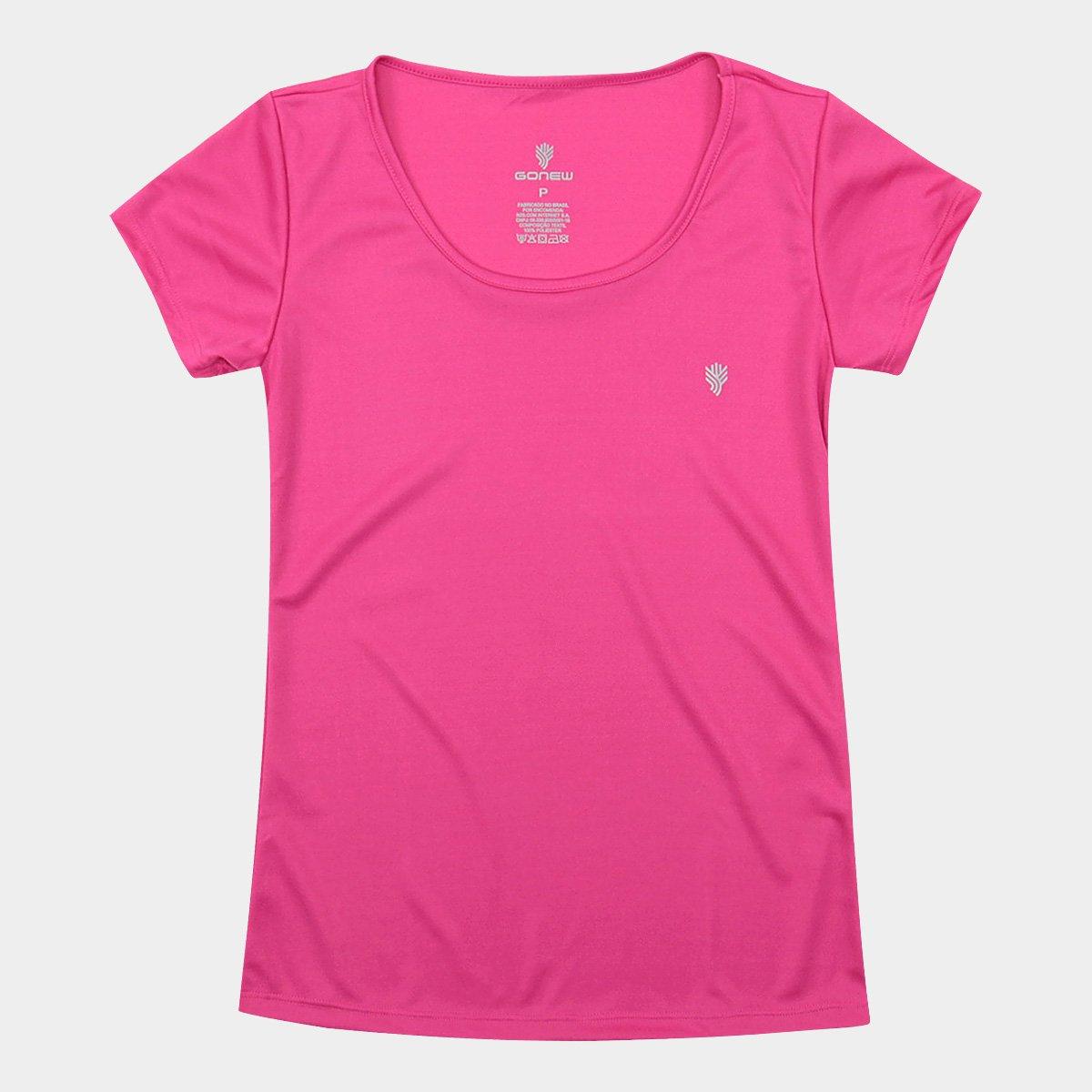 Rosa Camiseta Gonew Básica Camiseta Feminina Gonew pxqwf0