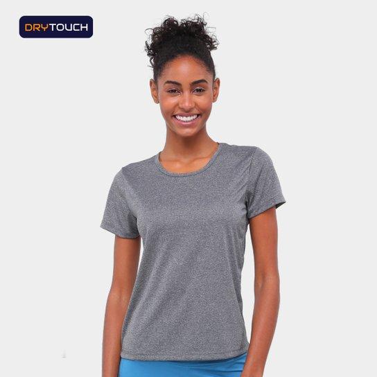 Camiseta Gonew Básica Workout Feminina - Mescla Claro