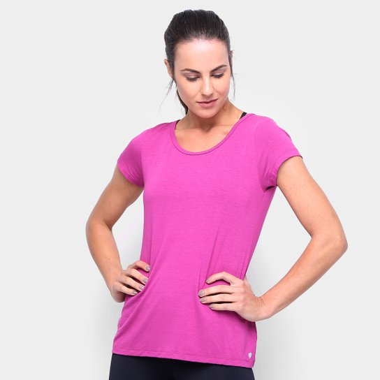 Camiseta Gonew Detalhe nas Costas Feminina - Rosa