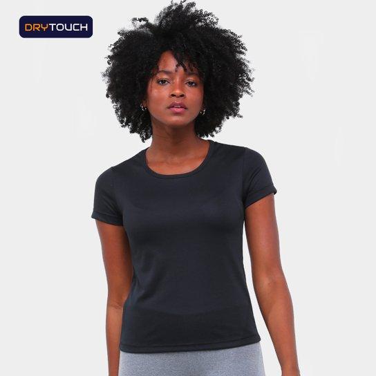 Camiseta Gonew Dry Touch Básica Fast Feminina - Preto