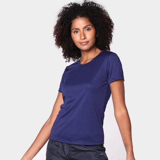 Camiseta Gonew Dry Touch Básica Workout Feminina - Marinho