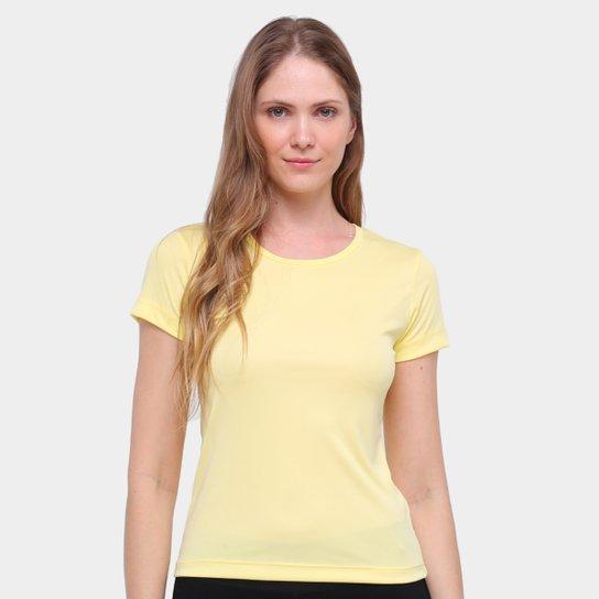 Camiseta Gonew Dry Touch Básica Workout Feminina - Amarelo