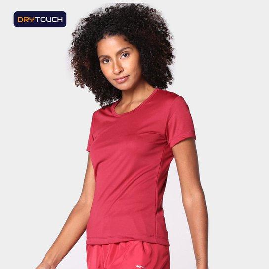Camiseta Gonew Dry Touch Básica Workout Feminina - Vinho