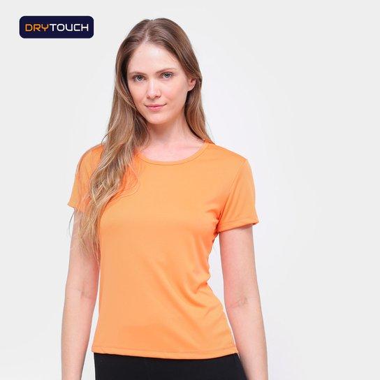 Camiseta Gonew Dry Touch Básica Workout Feminina - Laranja