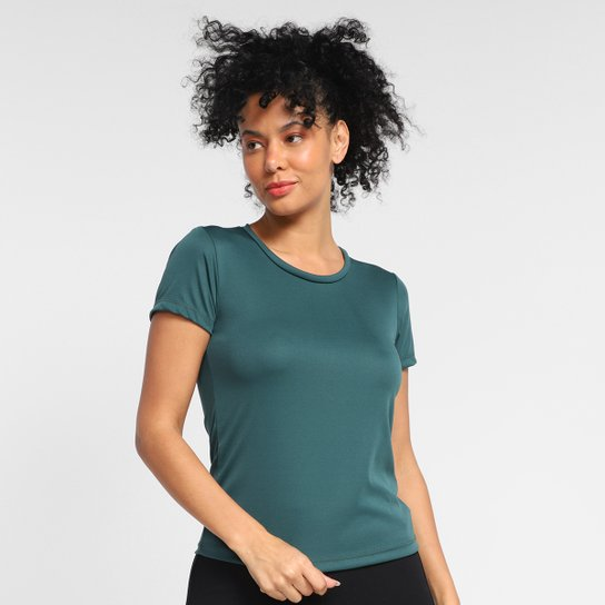Camiseta Gonew Dry Touch Básica Workout Feminina - Verde