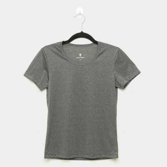 Camiseta Gonew Dry Touch Básica Workout Feminina - Mescla