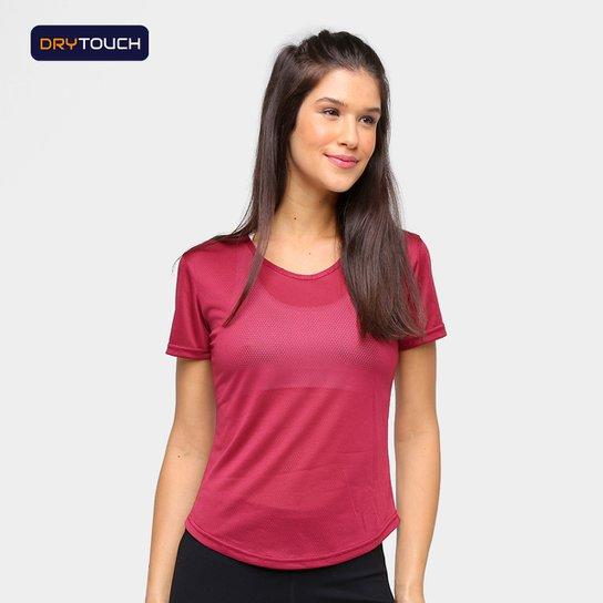 Camiseta Gonew Dry Touch Fast Feminina - Bordô
