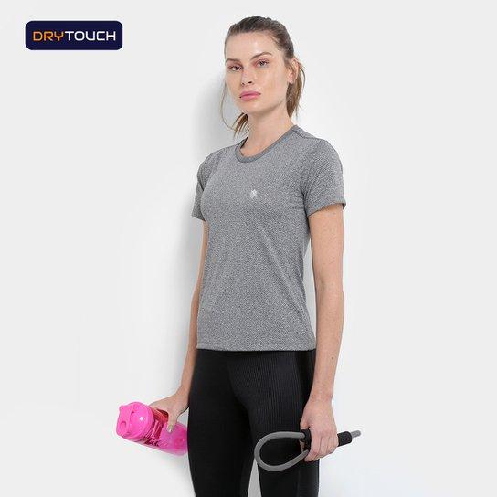 Camiseta Gonew Dry Touch Melange Workout Feminina - Mescla