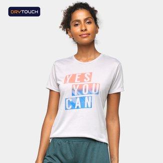 Camiseta Gonew Dry Touch Yes You Can Feminina