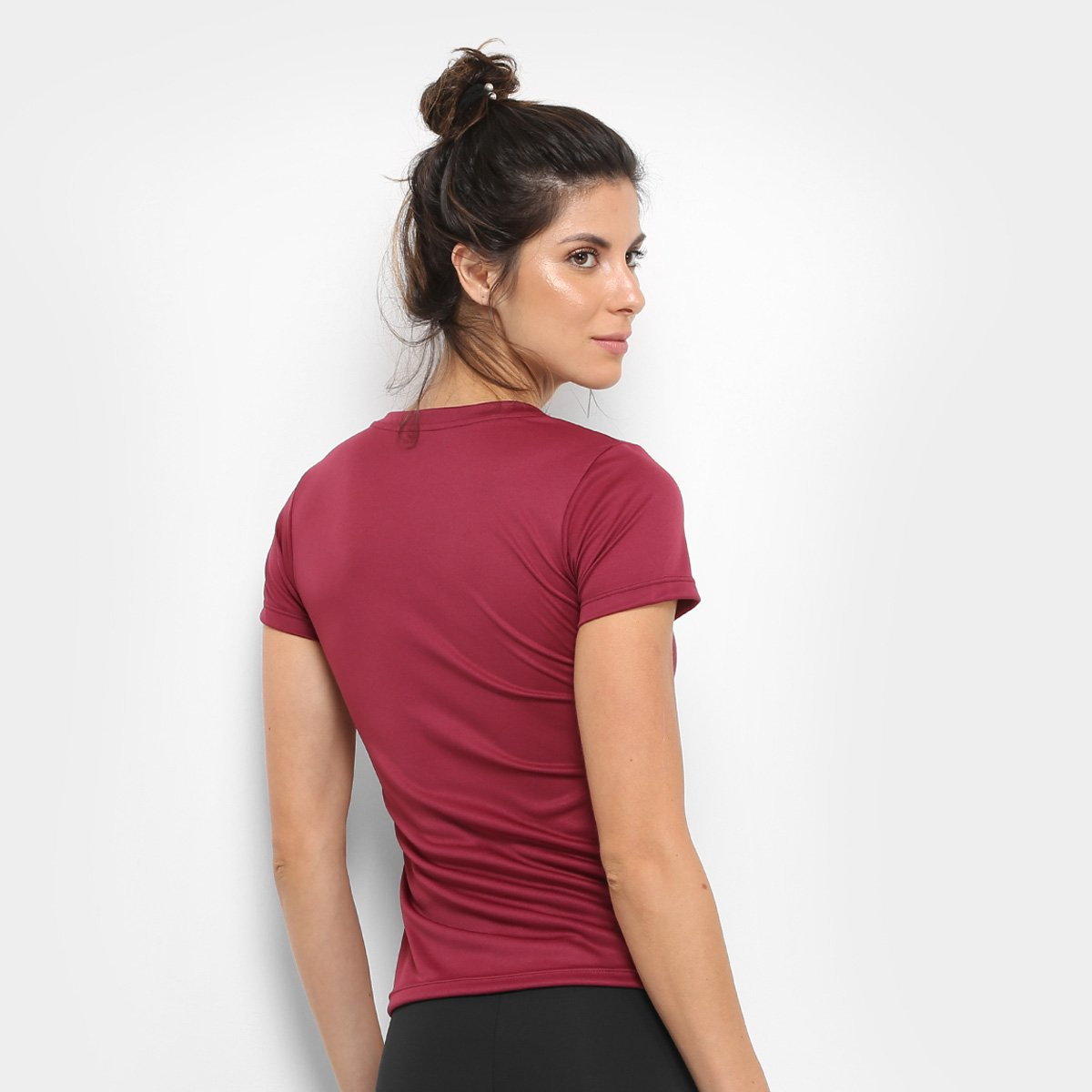 Camiseta GONEW Basic Bordô Feminina Lola Camiseta GONEW Prdxaqrw