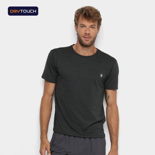 Camiseta Gonew Melange Workout Masculina - Preto